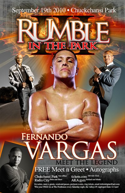 Boxing legend fernando vargas just added to rumble in the park sunday saturday lavar big johnson will be on hand doing meet n greets and signing autographs for his fans m4hsunfo
